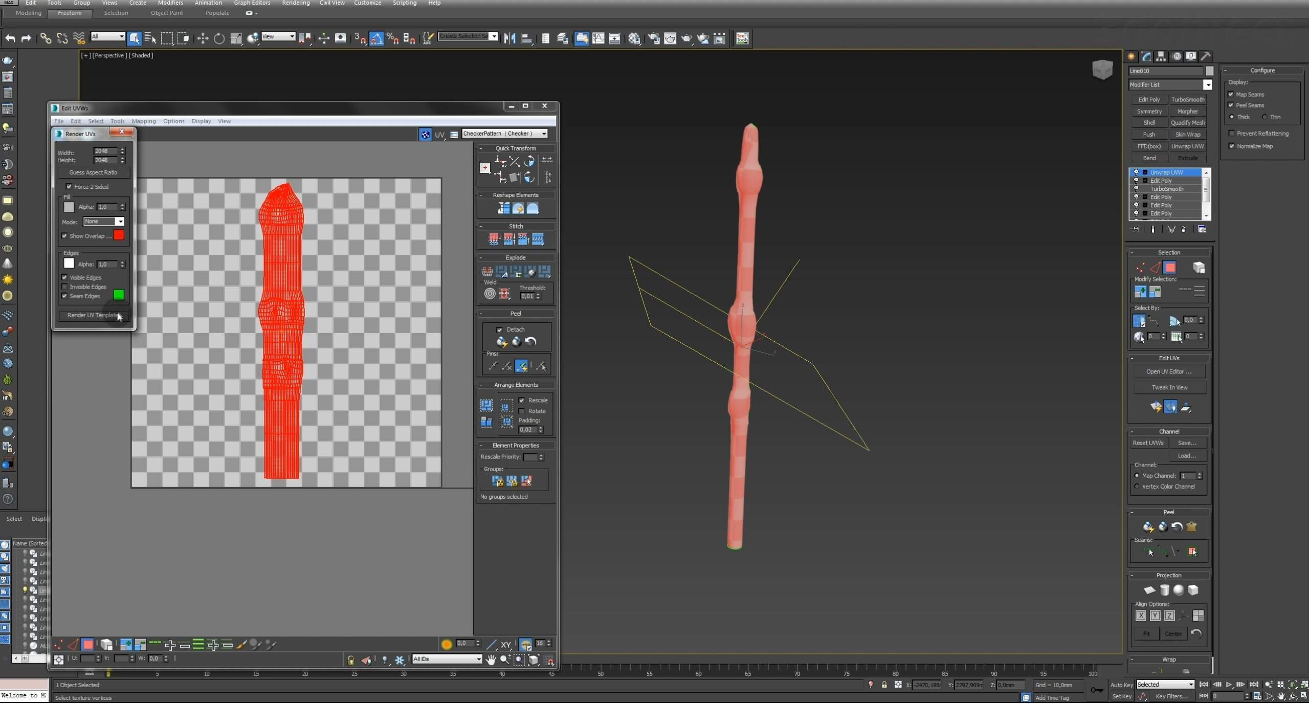 Моделирование Самшит плагином MultiScatter в 3d max. Текстурирование в photoshop. VRay2SidedMtl_28