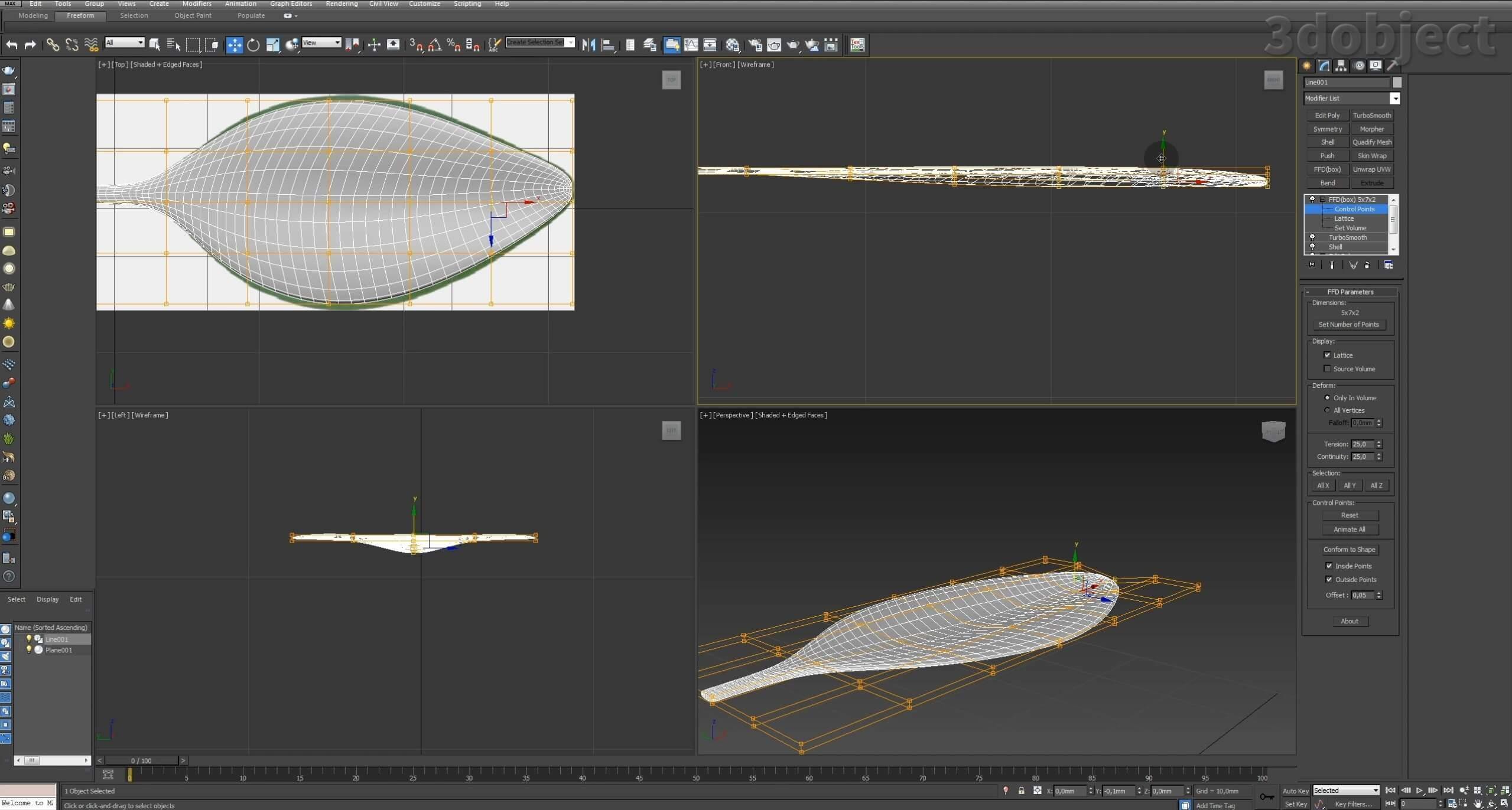 Моделирование Самшит плагином MultiScatter в 3d max. Текстурирование в photoshop. VRay2SidedMtl_3