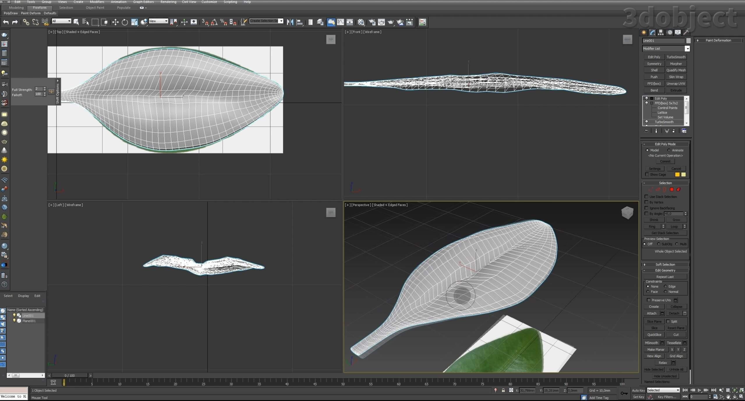 Моделирование Самшит плагином MultiScatter в 3d max. Текстурирование в photoshop. VRay2SidedMtl_4