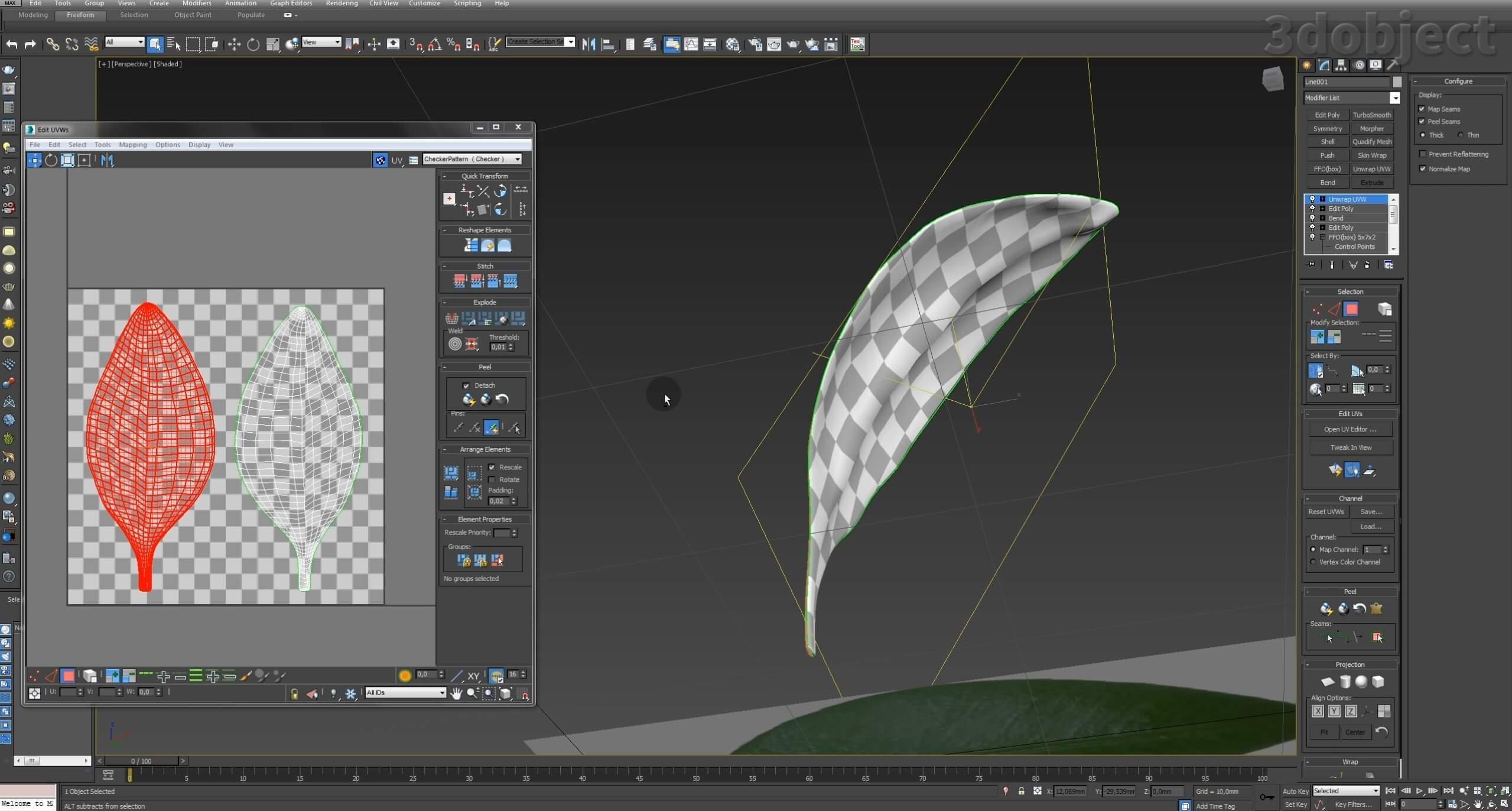 Моделирование Самшит плагином MultiScatter в 3d max. Текстурирование в photoshop. VRay2SidedMtl_5