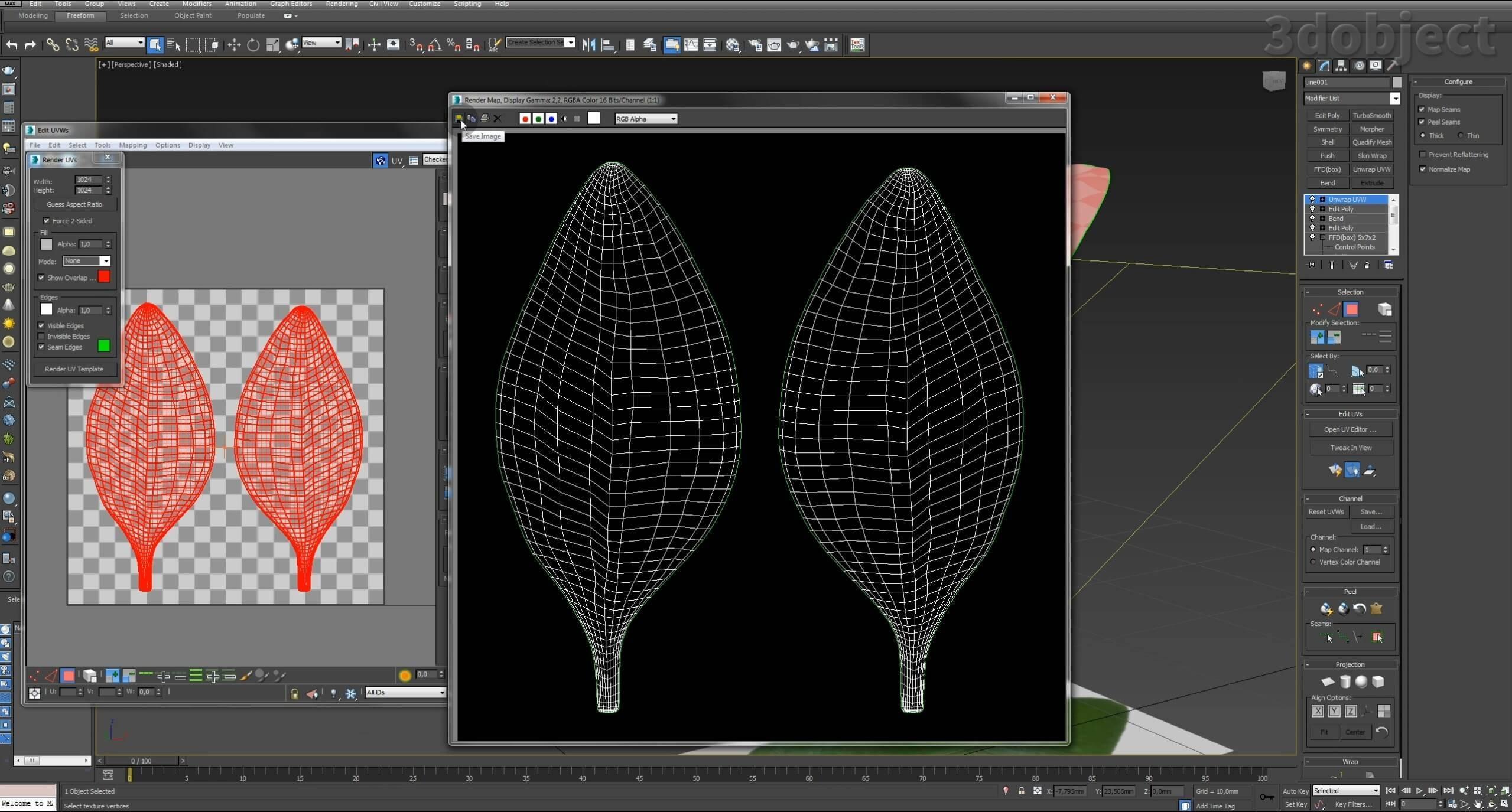 Моделирование Самшит плагином MultiScatter в 3d max. Текстурирование в photoshop. VRay2SidedMtl_6