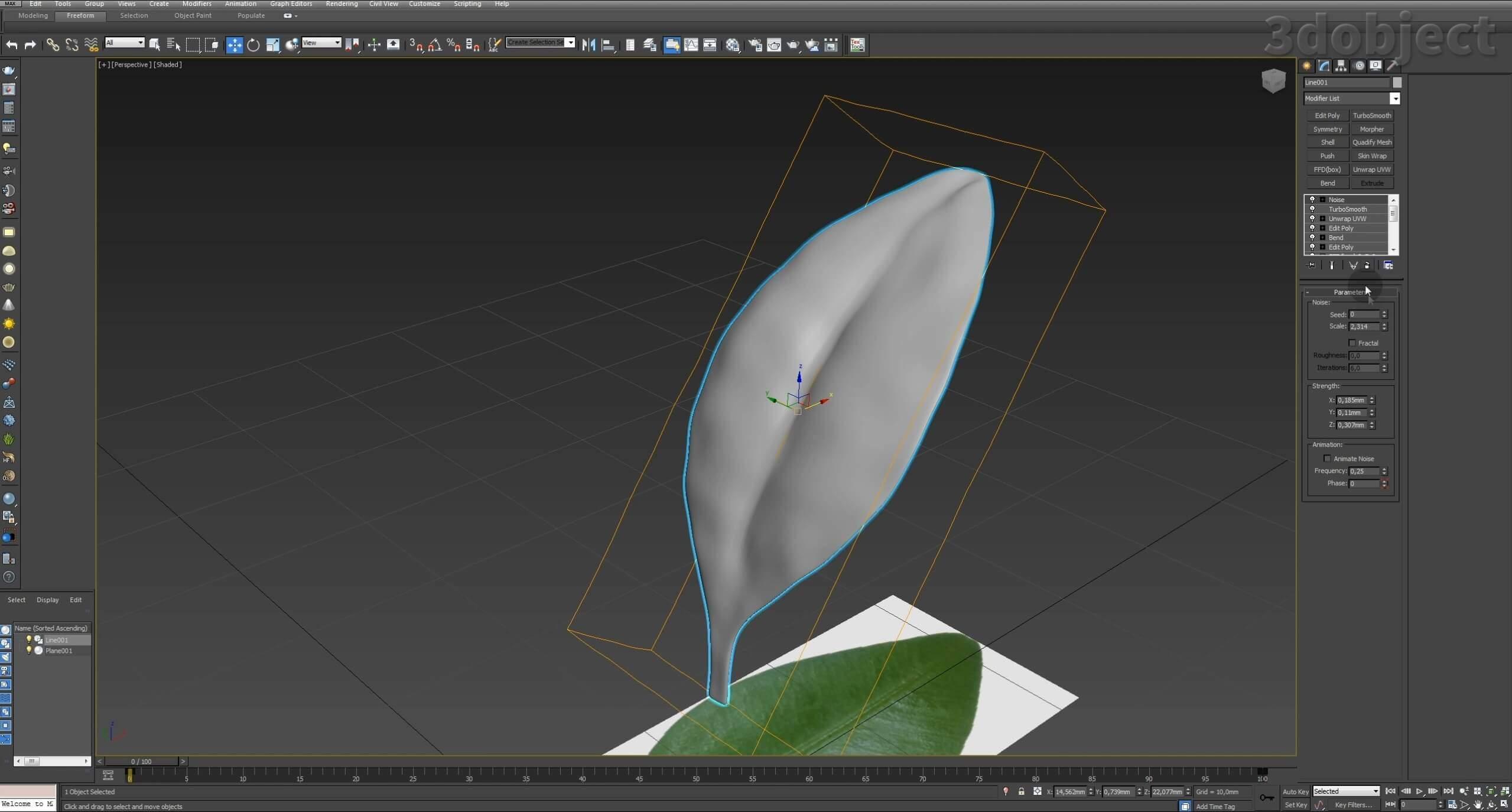 Моделирование Самшит плагином MultiScatter в 3d max. Текстурирование в photoshop. VRay2SidedMtl_7
