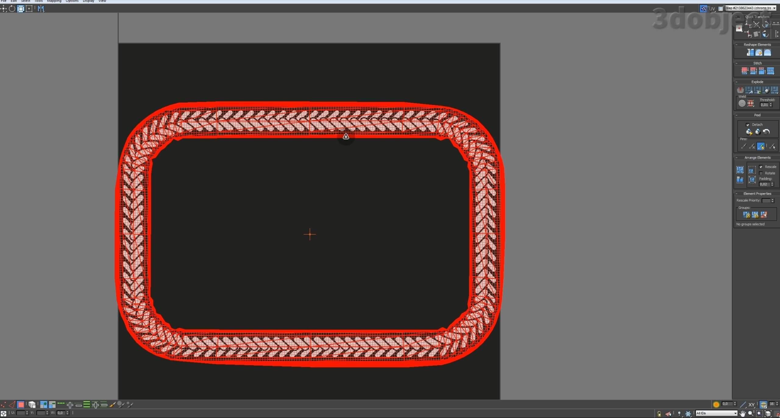Моделирование декоративного подноса в 3d max. VRayDisplacementMod_16