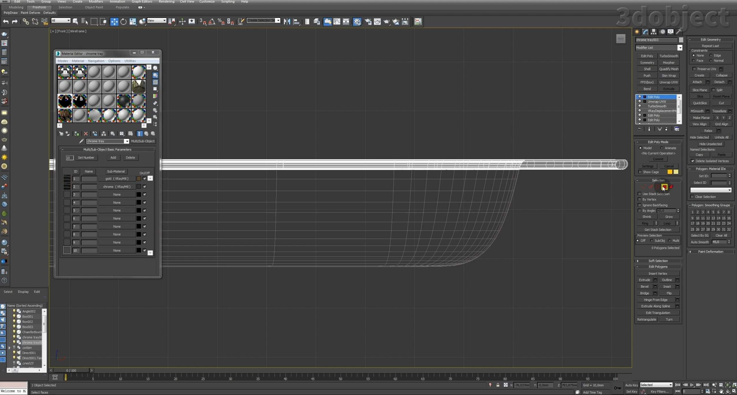 Моделирование декоративного подноса в 3d max. VRayDisplacementMod_21