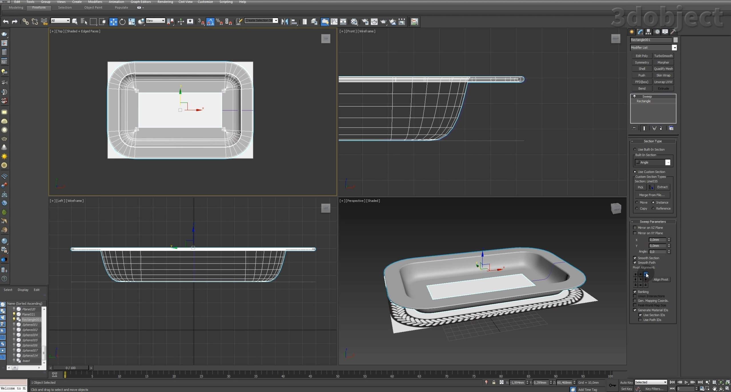 Моделирование декоративного подноса в 3d max. VRayDisplacementMod_4