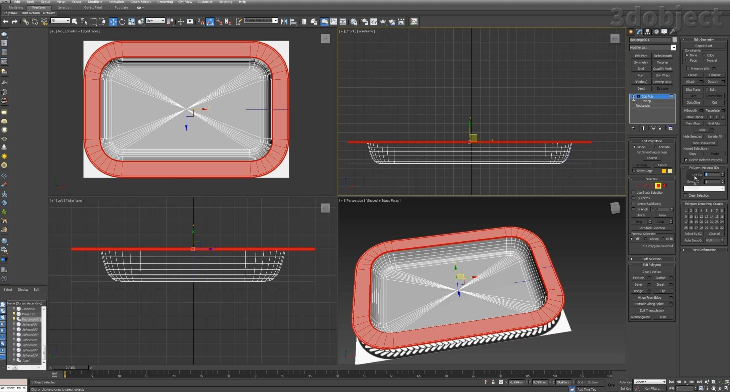 Моделирование декоративного подноса в 3d max. VRayDisplacementMod_6