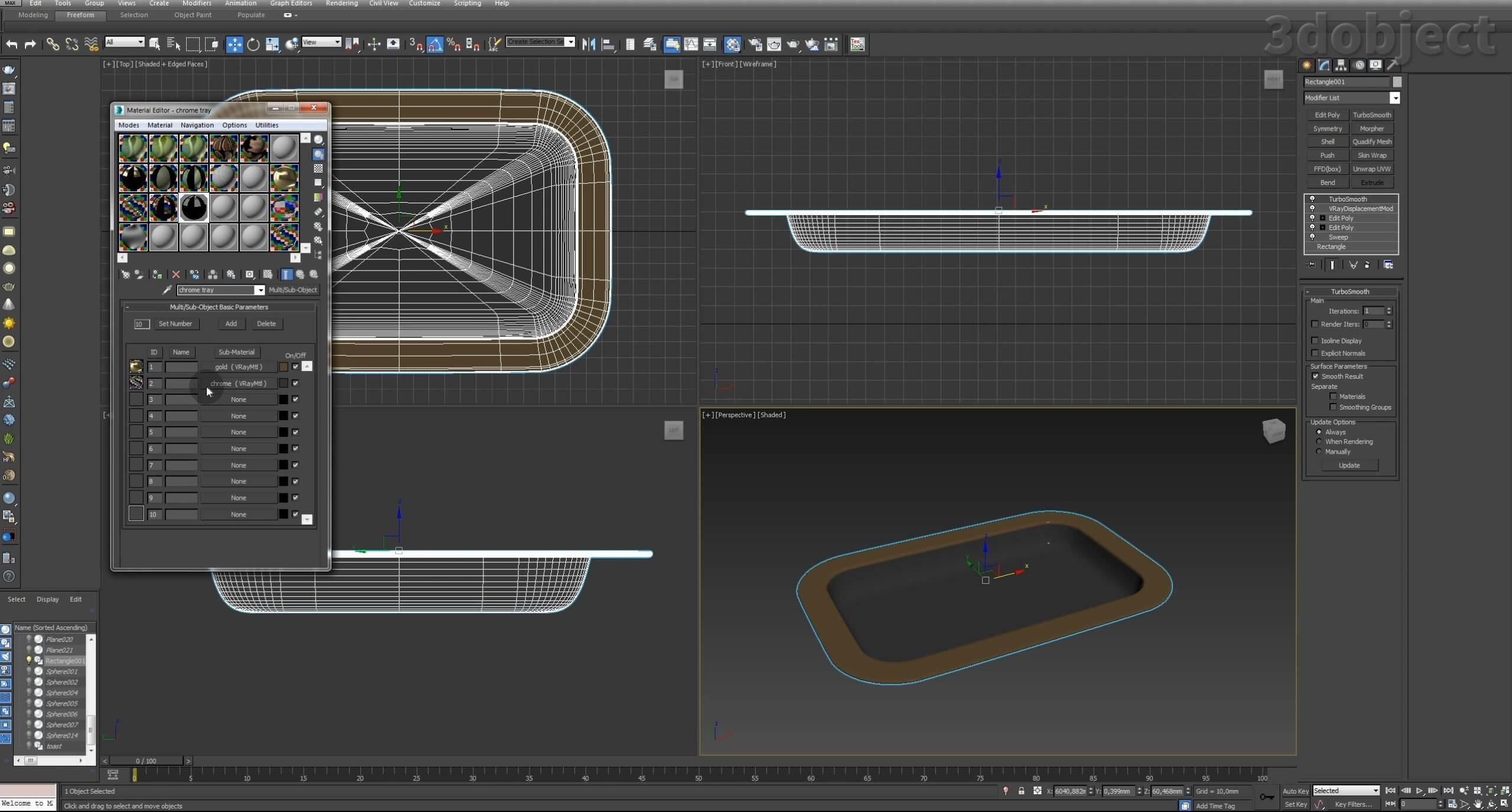 Моделирование декоративного подноса в 3d max. VRayDisplacementMod_8