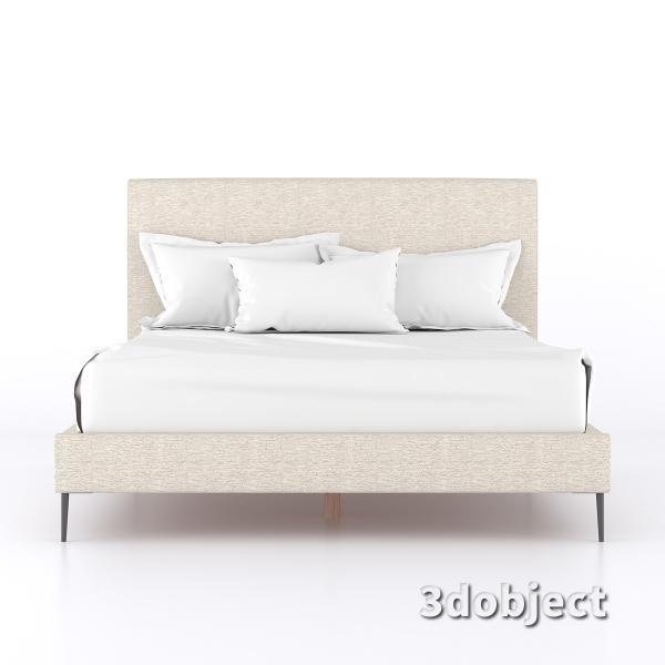 3d модель кровати 15861-KAILOR-QUEEN-BED-FRT