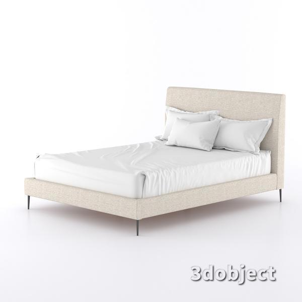3d модель кровати 15861-KAILOR-QUEEN-BED-PRM
