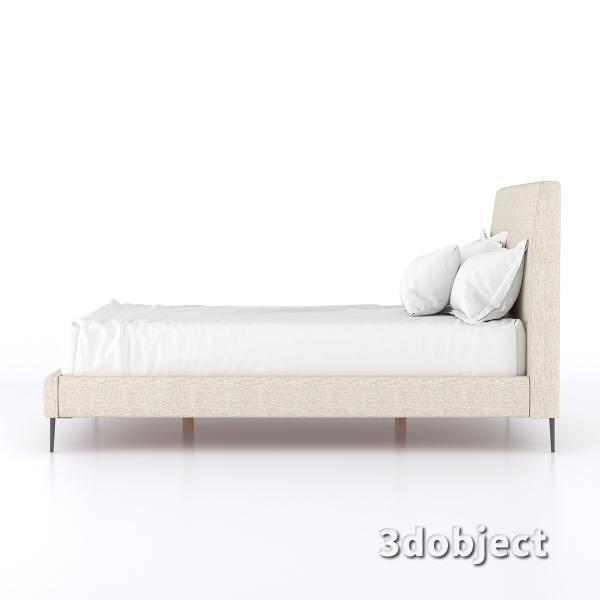 3d модель кровати 15861-KAILOR-QUEEN-BED-SID