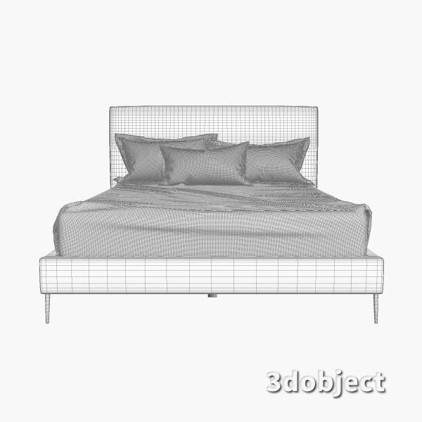 3d модель кровати -15861-KAILOR-QUEEN-BED-FRT_grid
