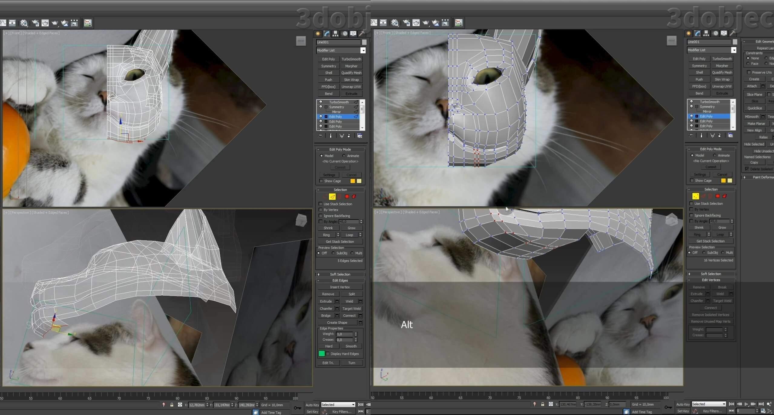 Моделирование кота в 3d max. часть 2_ 01