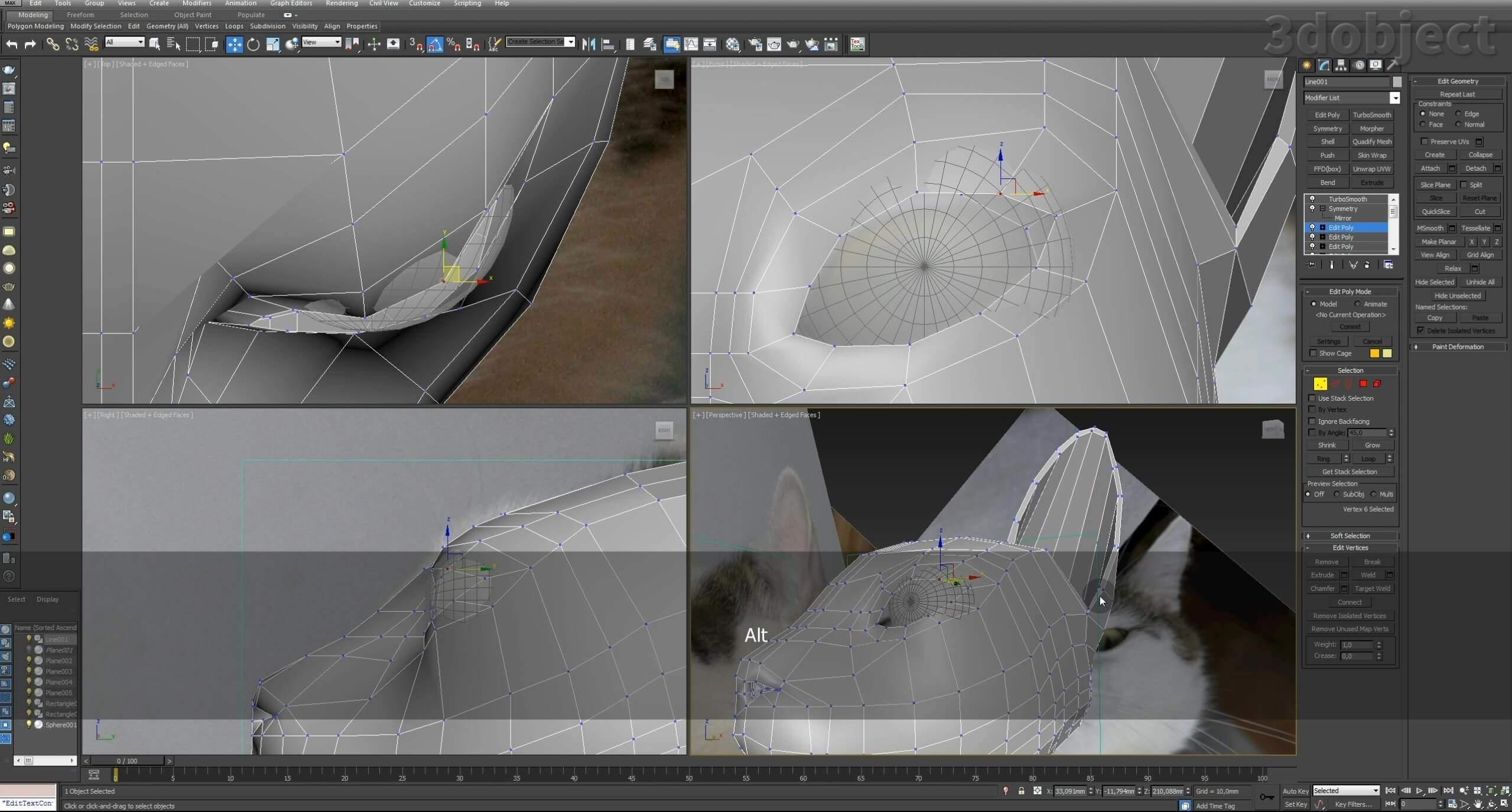 Моделирование кота в 3d max. часть 2_ 05