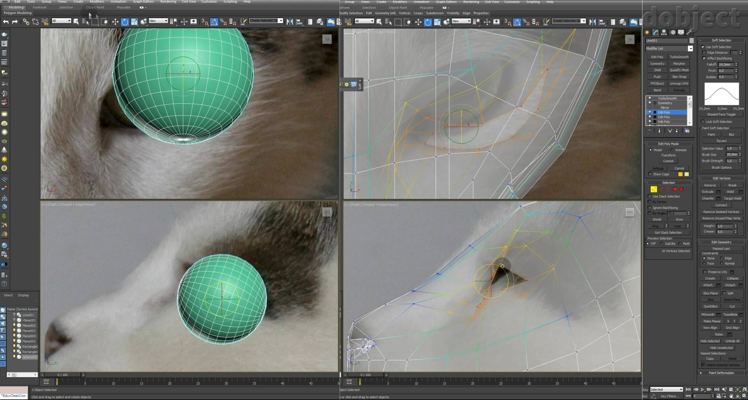 Моделирование кота в 3d max. часть 2_ 06
