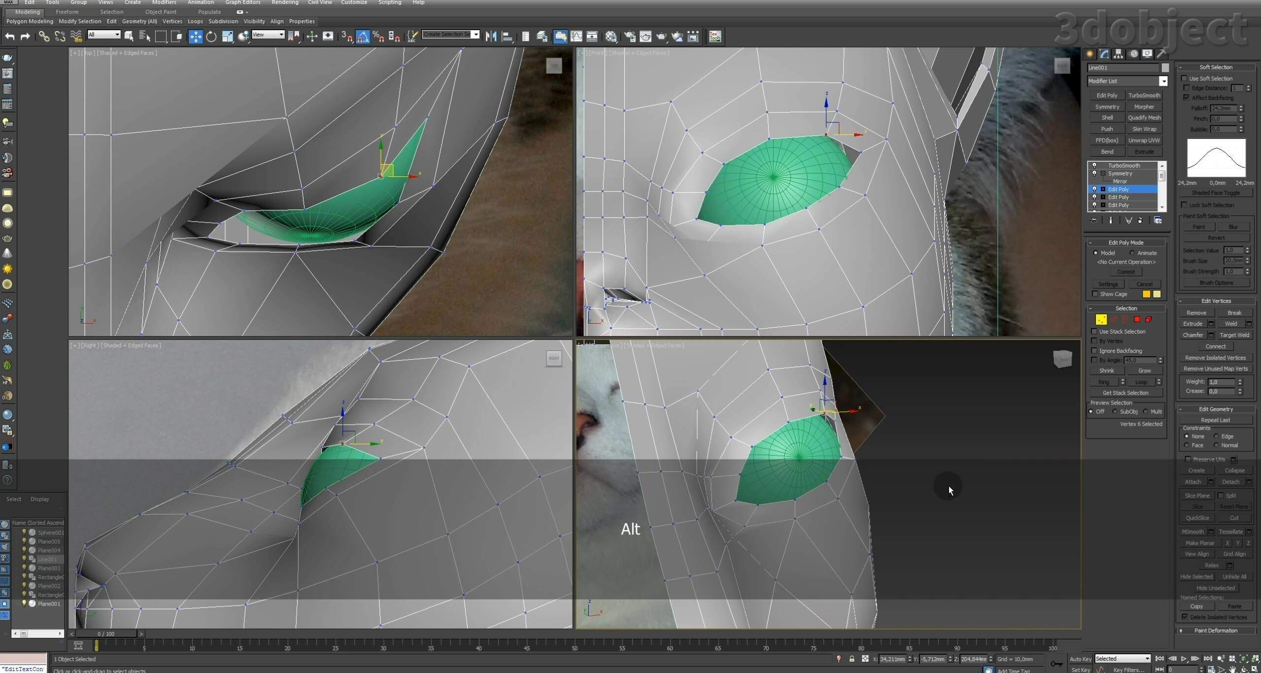 Моделирование кота в 3d max. часть 2_ 07