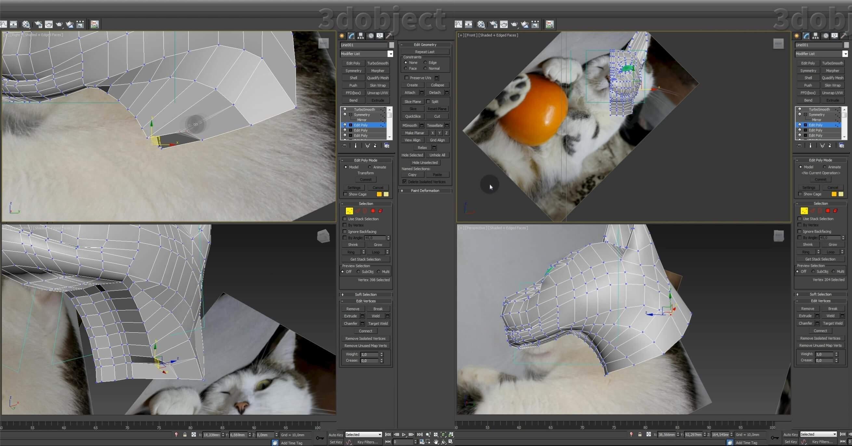 Моделирование кота в 3d max. часть 2_ 15