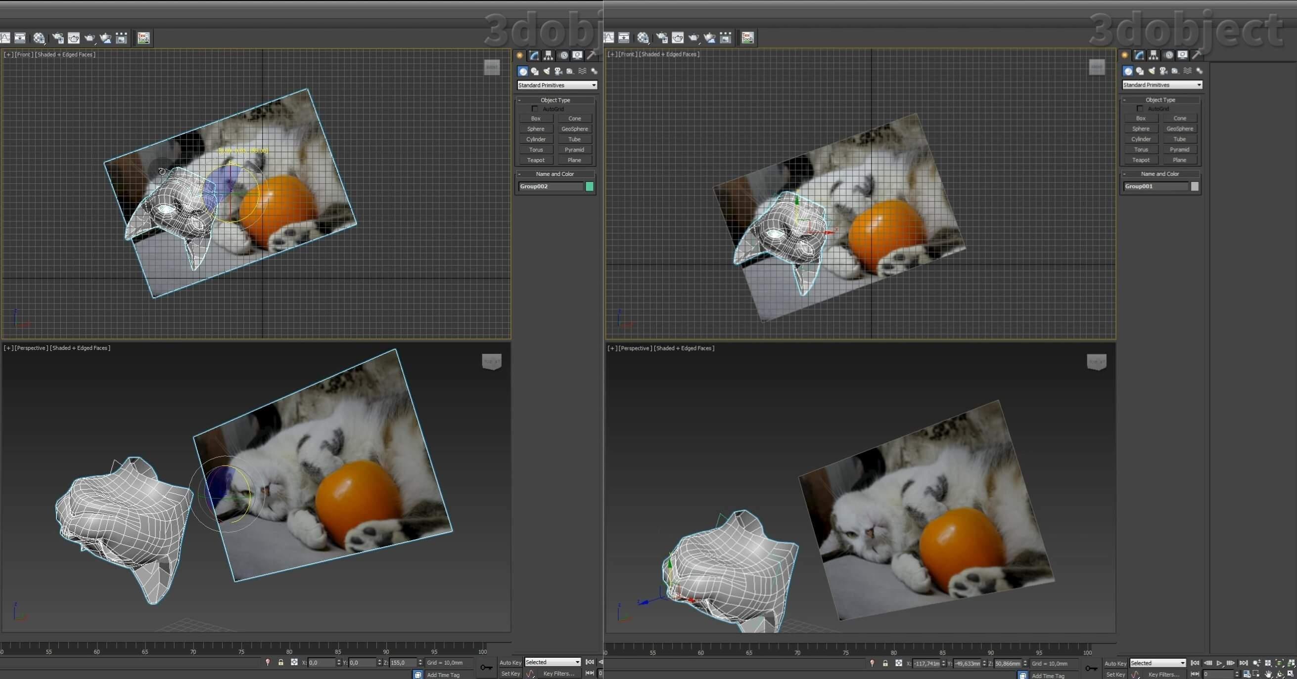 Моделирование кота в 3d max. часть 3_ 01