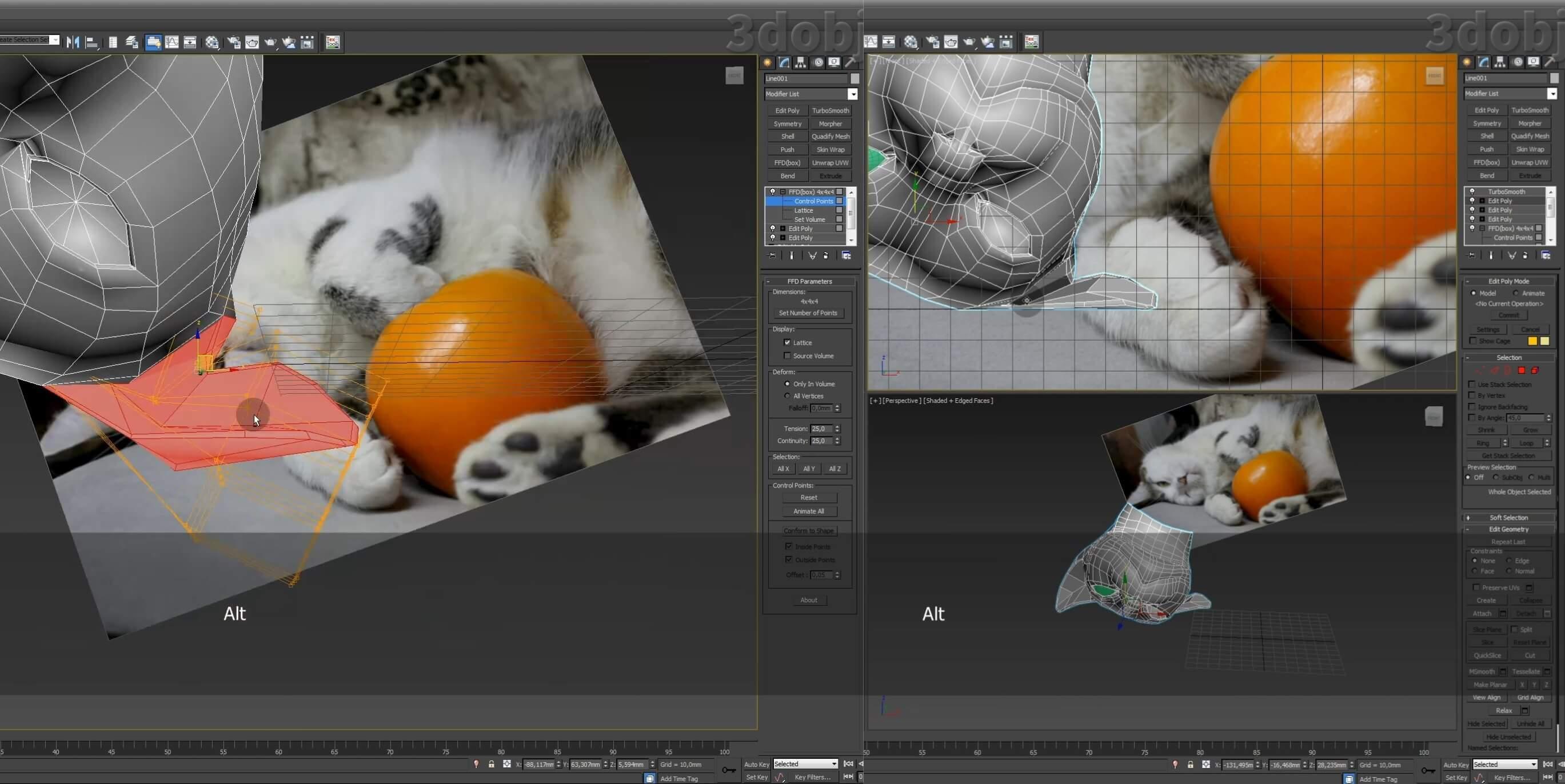 Моделирование кота в 3d max. часть 3_ 02