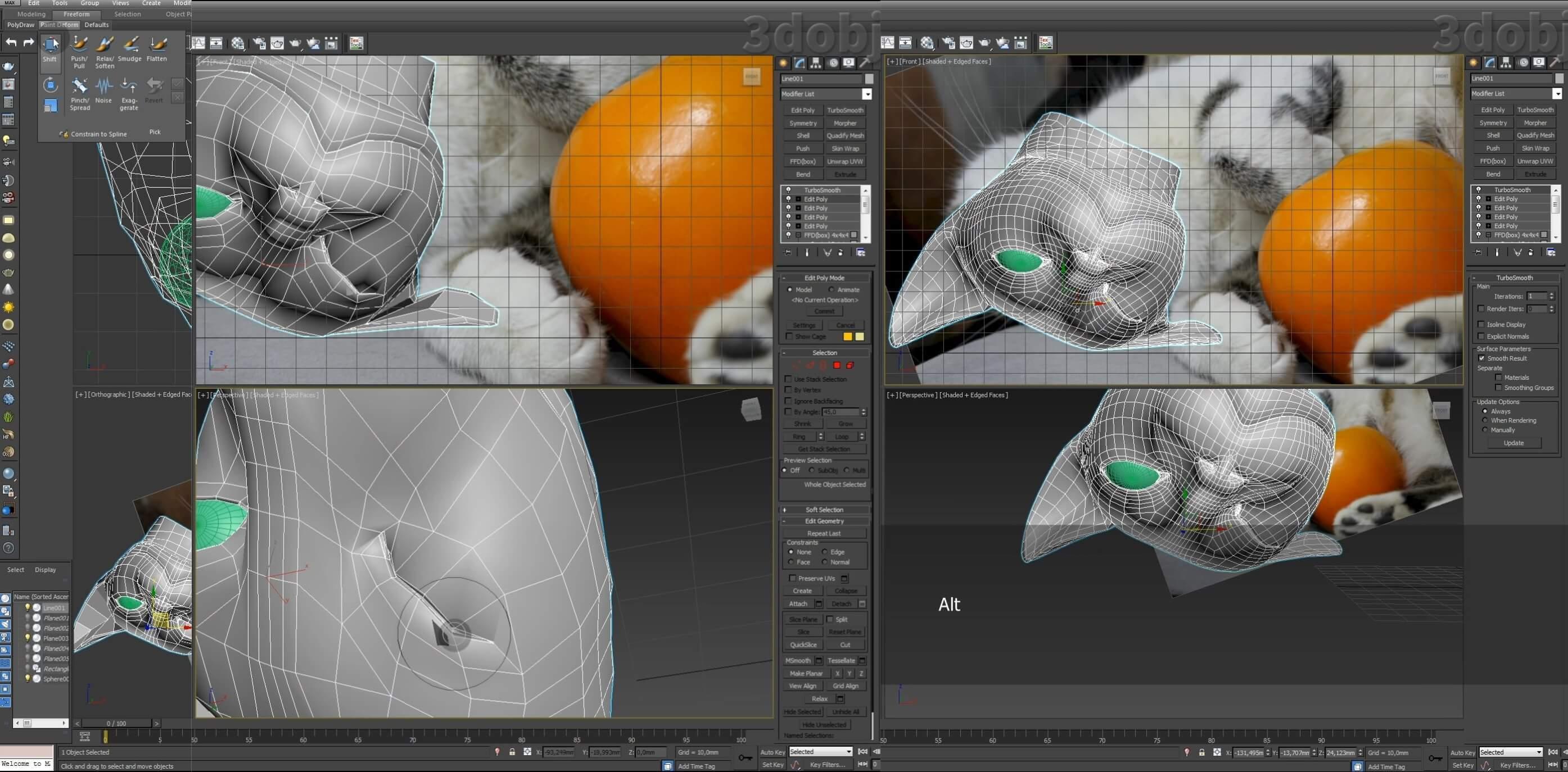 Моделирование кота в 3d max. часть 3_ 03