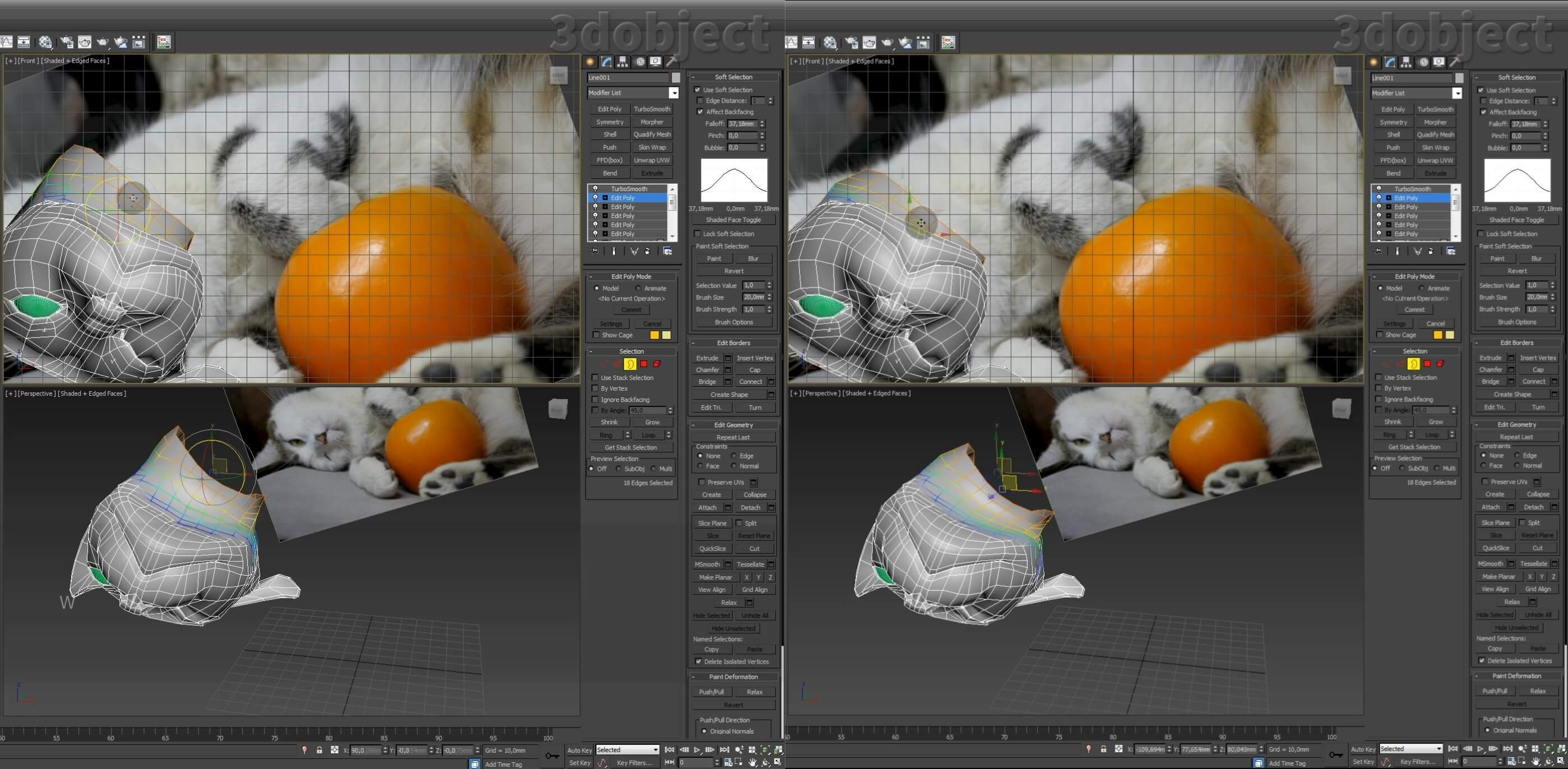 Моделирование кота в 3d max. часть 3_ 04
