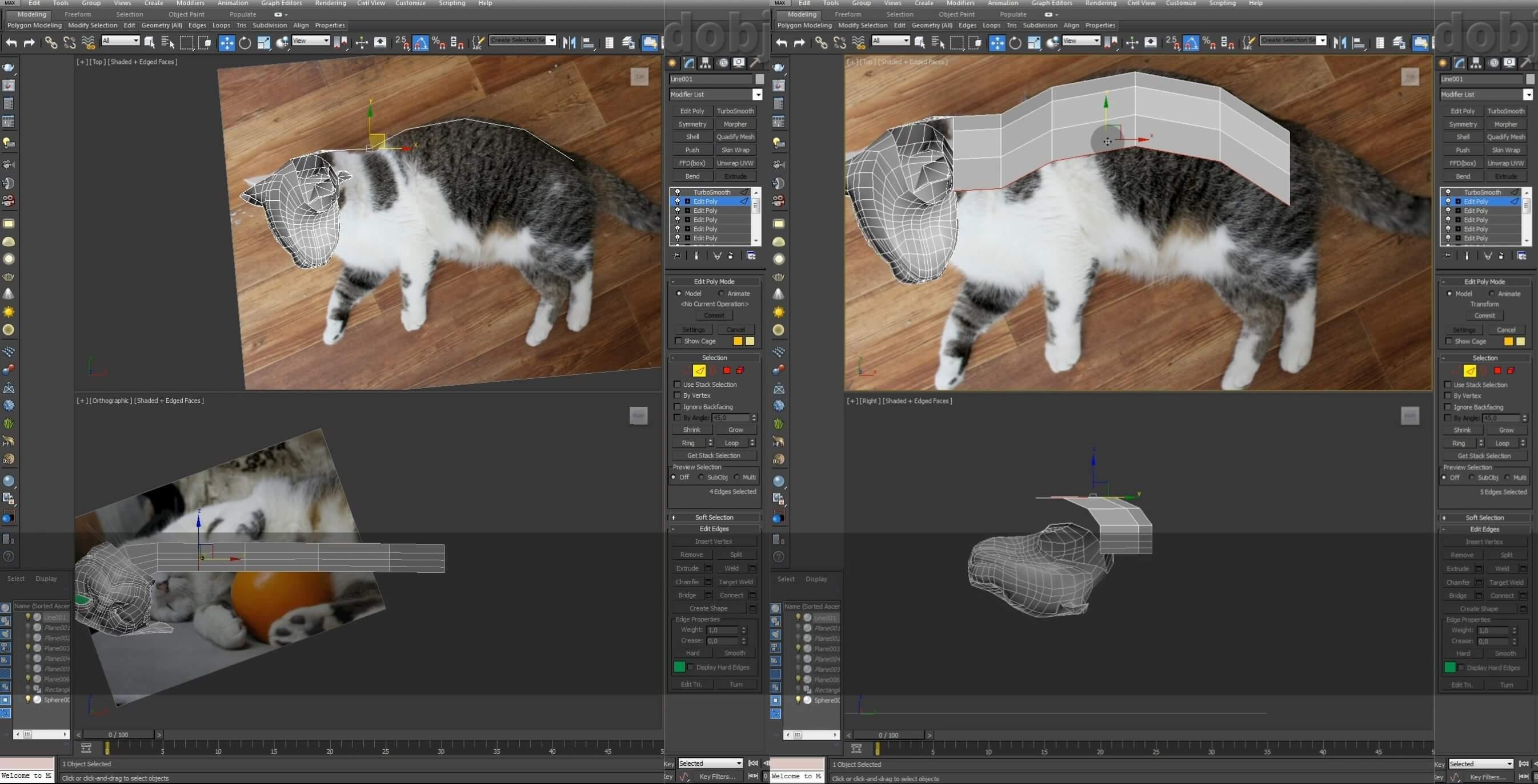 Моделирование кота в 3d max. часть 3_ 05