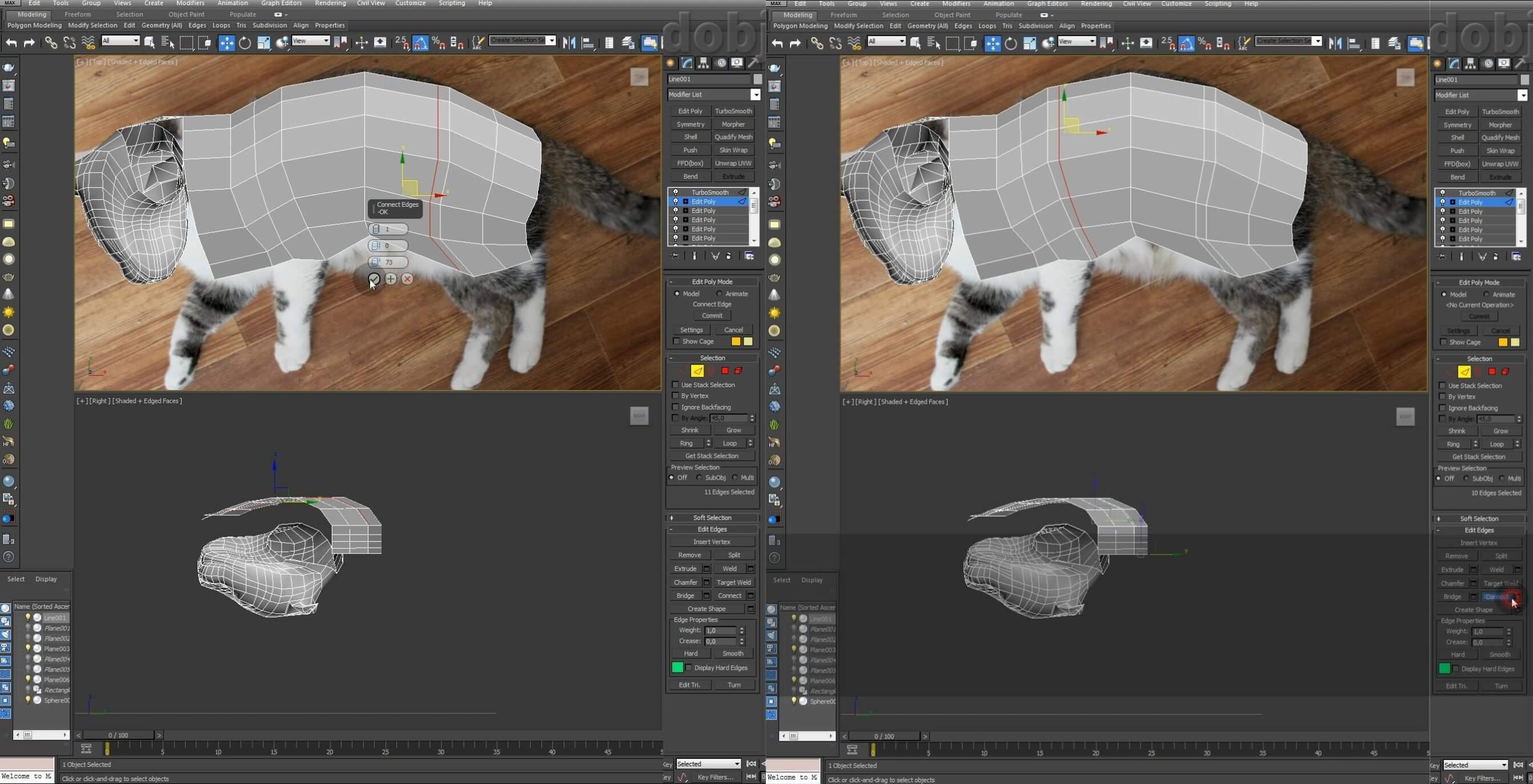 Моделирование кота в 3d max. часть 3_ 06