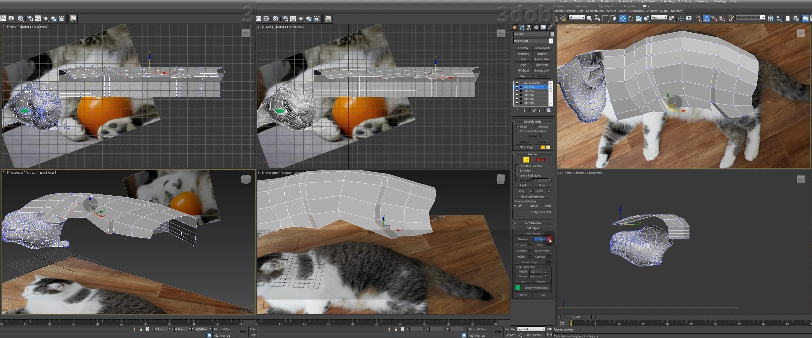 Моделирование кота в 3d max. часть 3_ 07
