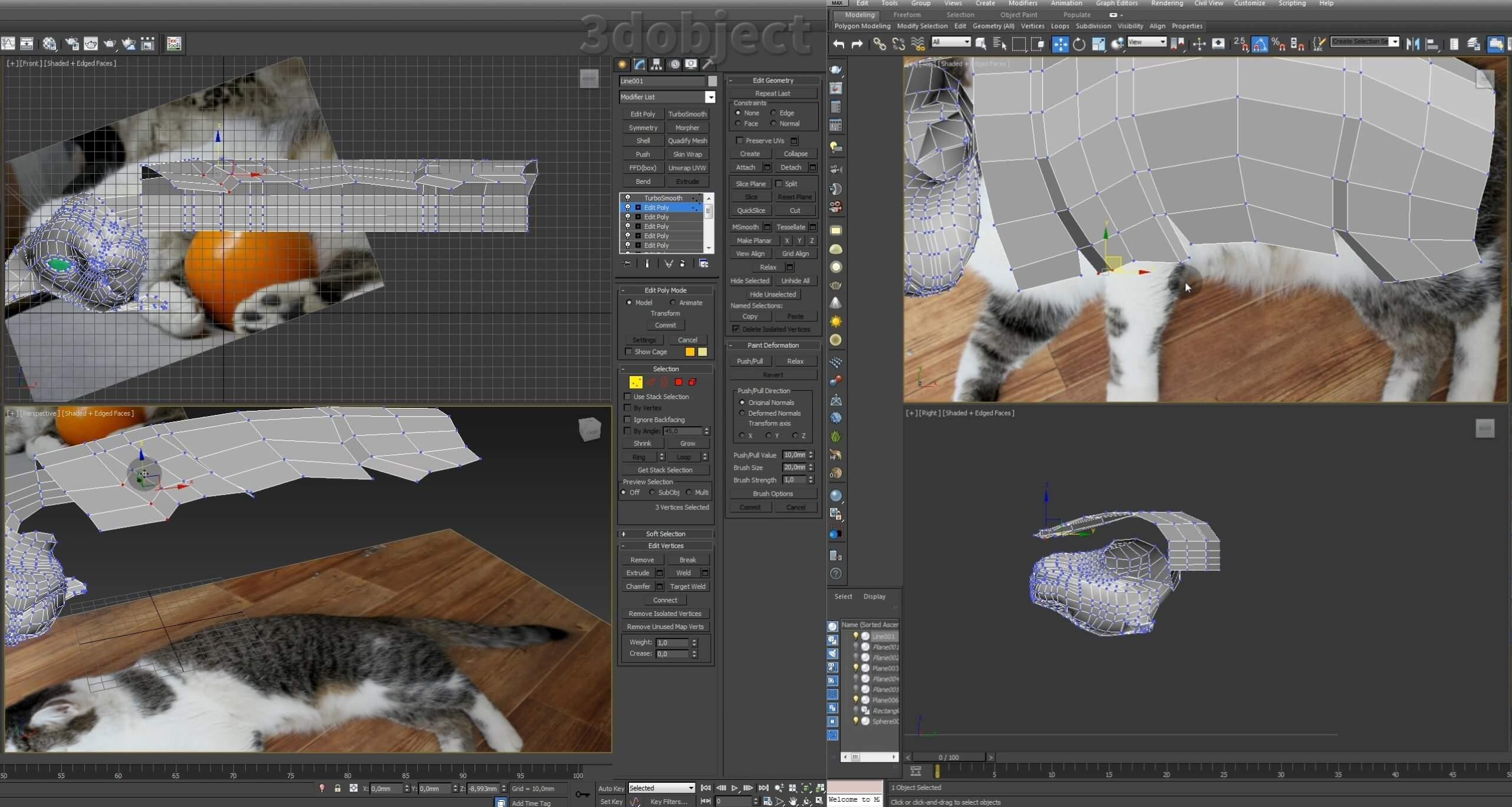 Моделирование кота в 3d max. часть 3_ 08