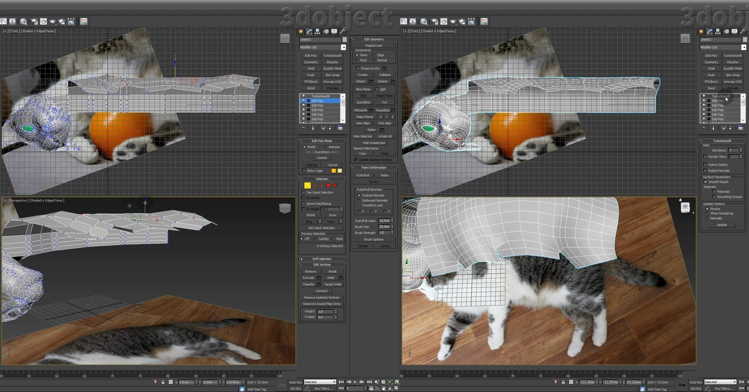Моделирование кота в 3d max. часть 3_ 09
