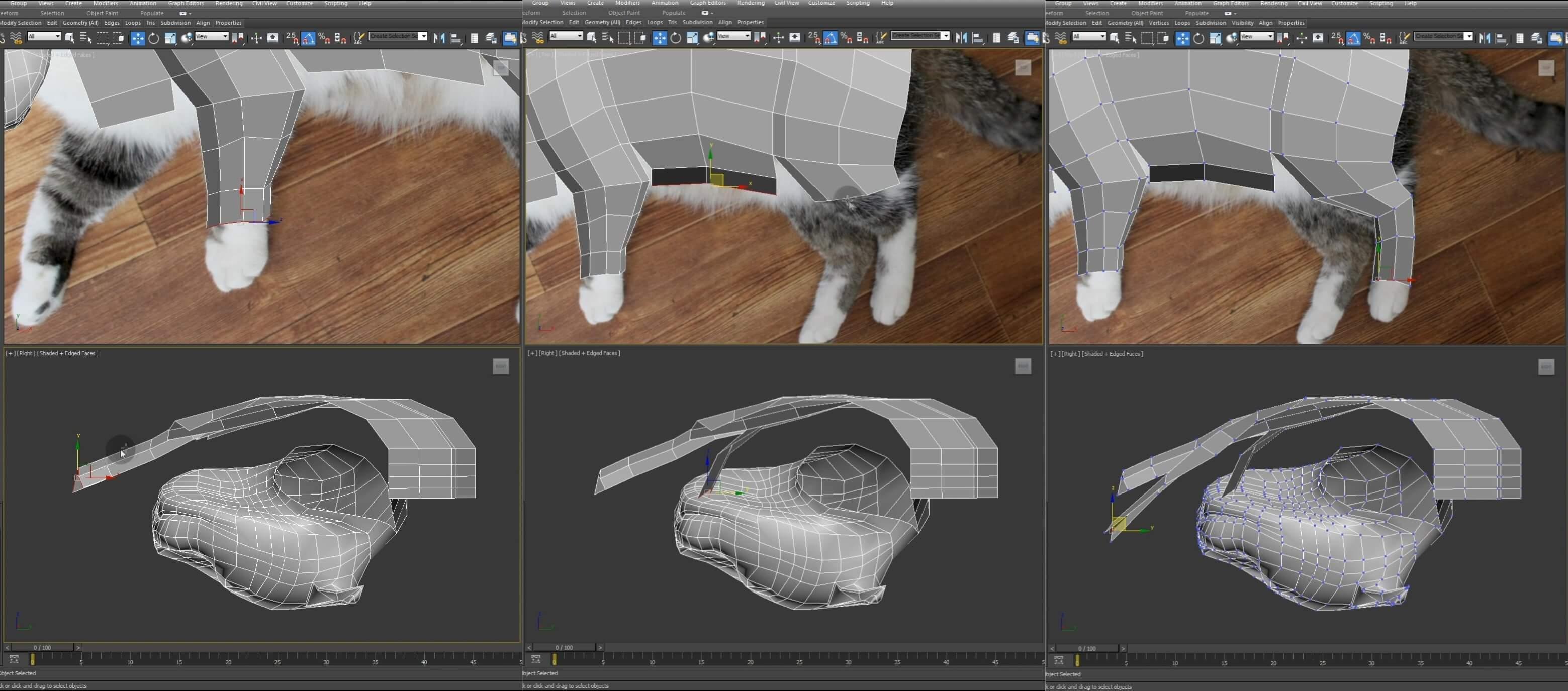 Моделирование кота в 3d max. часть 3_ 10