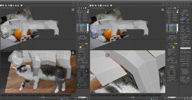Моделирование кота в 3d max. часть 3_ 11
