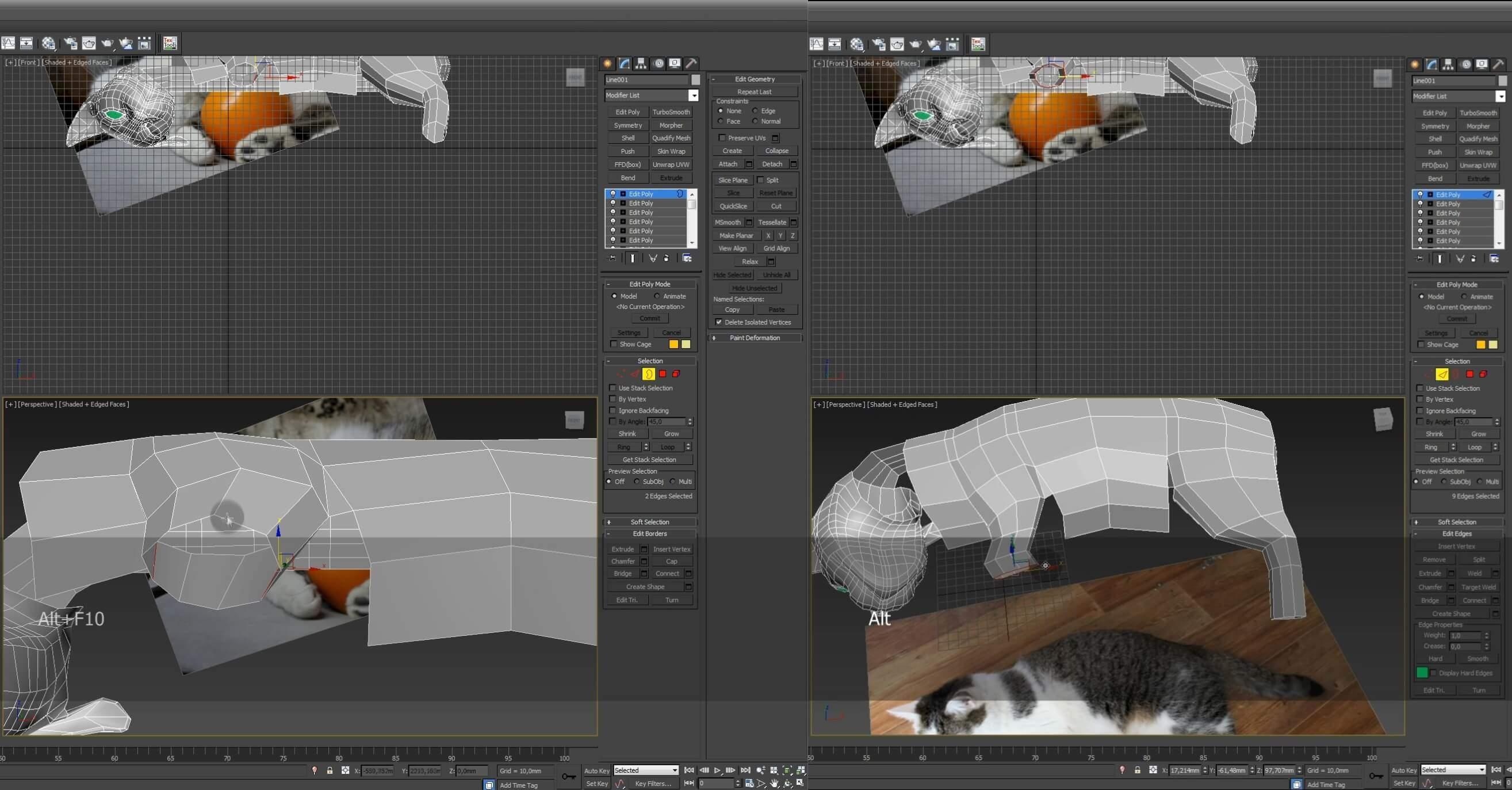 Моделирование кота в 3d max. часть 3_ 14