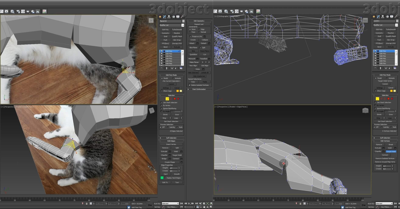 Моделирование кота в 3d max. часть 5_ 02