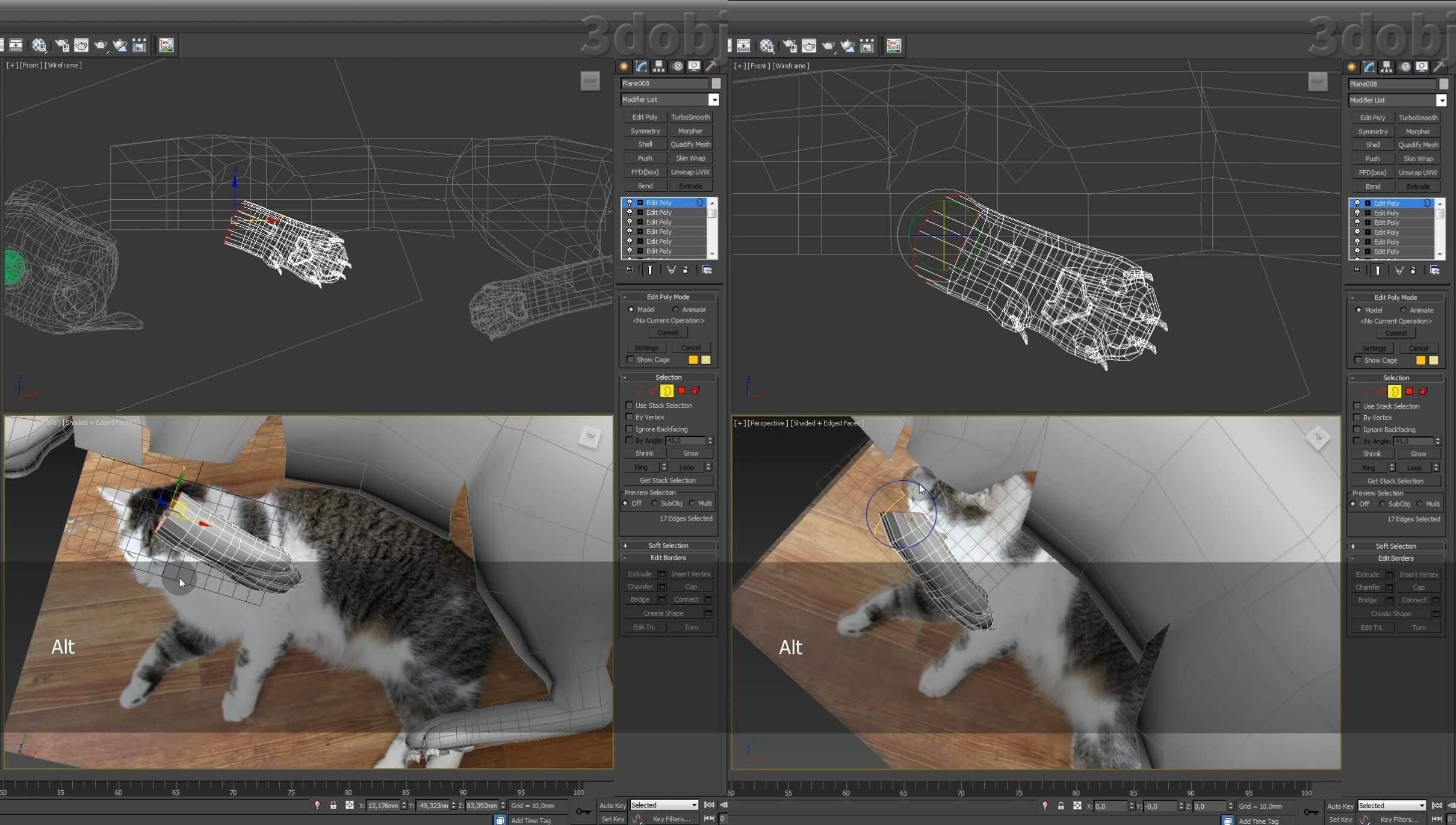 Моделирование кота в 3d max. часть 5_ 04