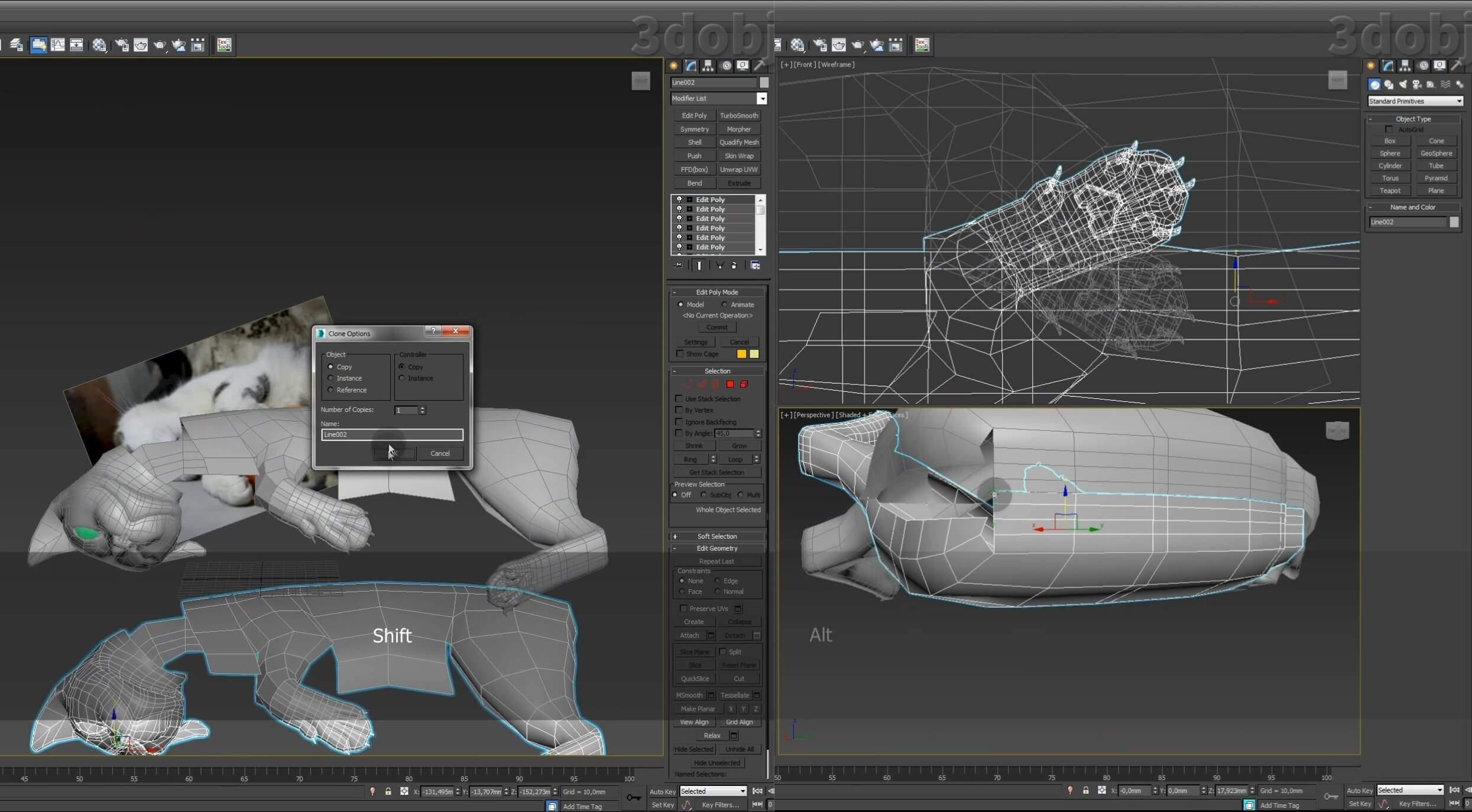 Моделирование кота в 3d max. часть 5_ 06