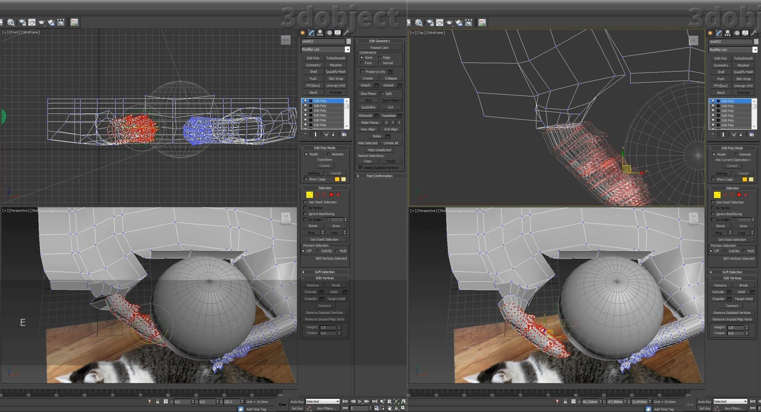 Моделирование кота в 3d max. часть 5_ 08