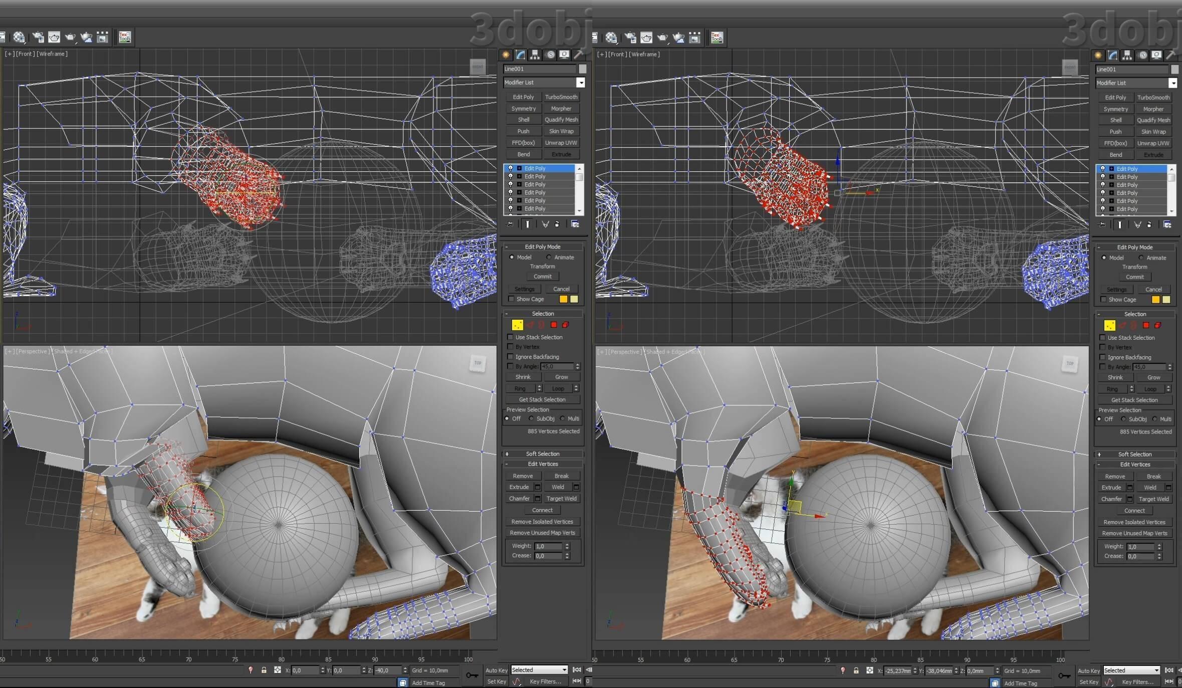 Моделирование кота в 3d max. часть 5_ 09