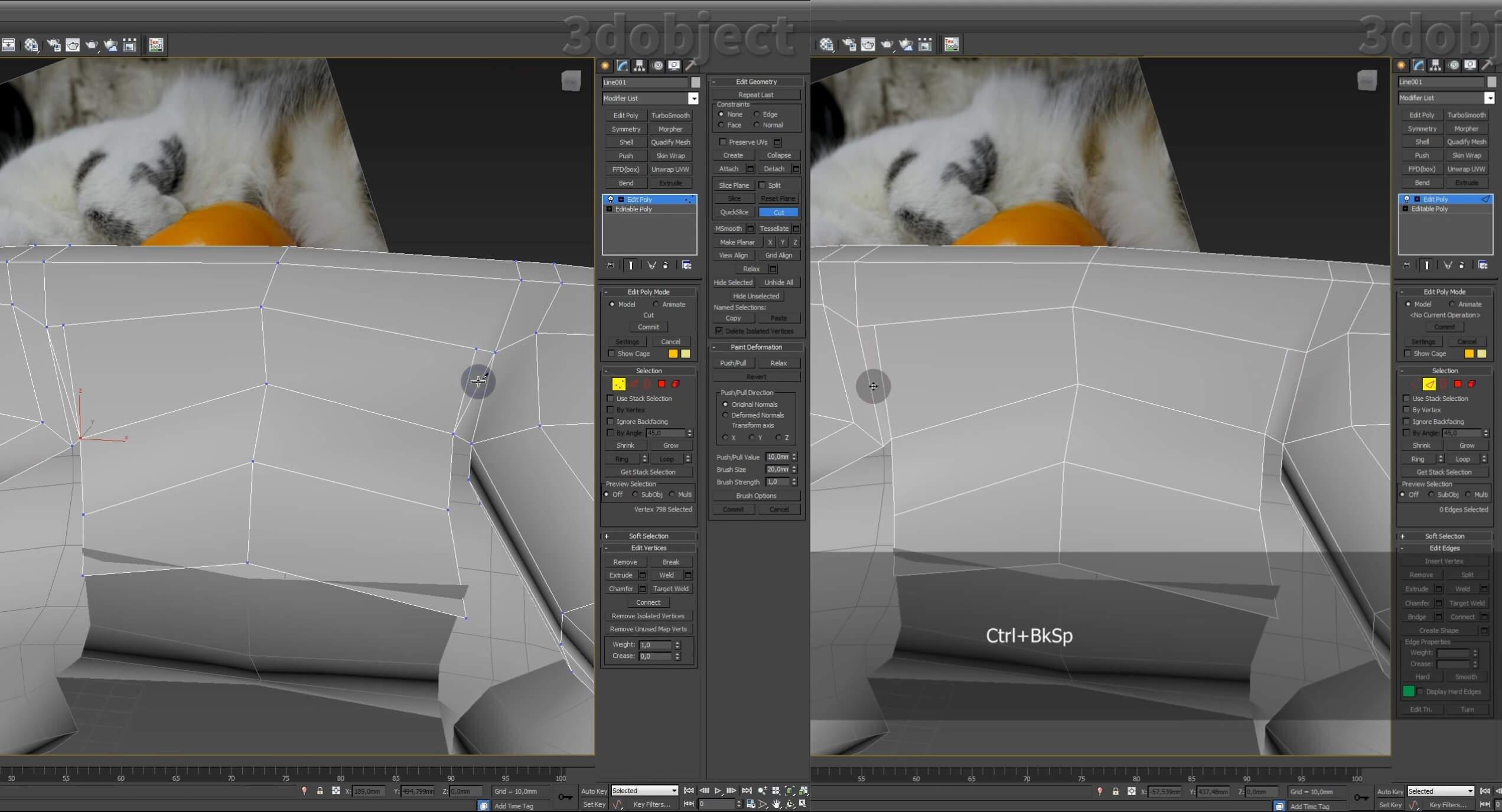 Моделирование кота в 3d max. часть 5_ 12