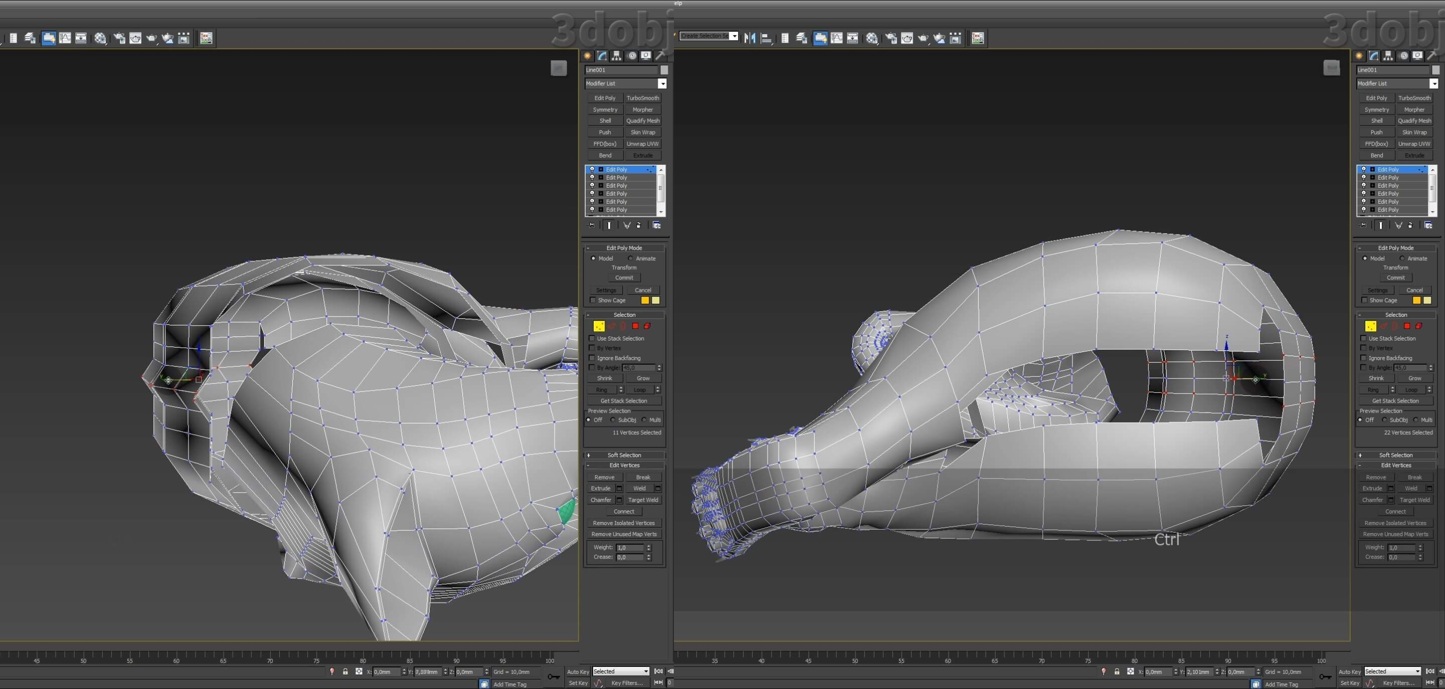 Моделирование кота в 3d max. часть 5_ 14