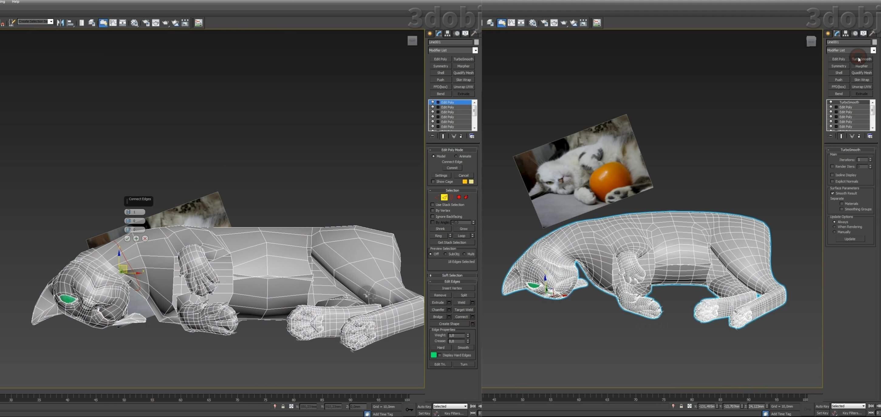 Моделирование кота в 3d max. часть 5_ 16