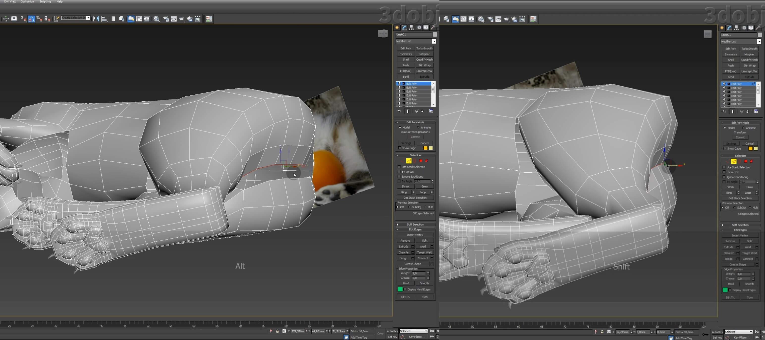 Моделирование кота в 3d max. часть 5_ 17