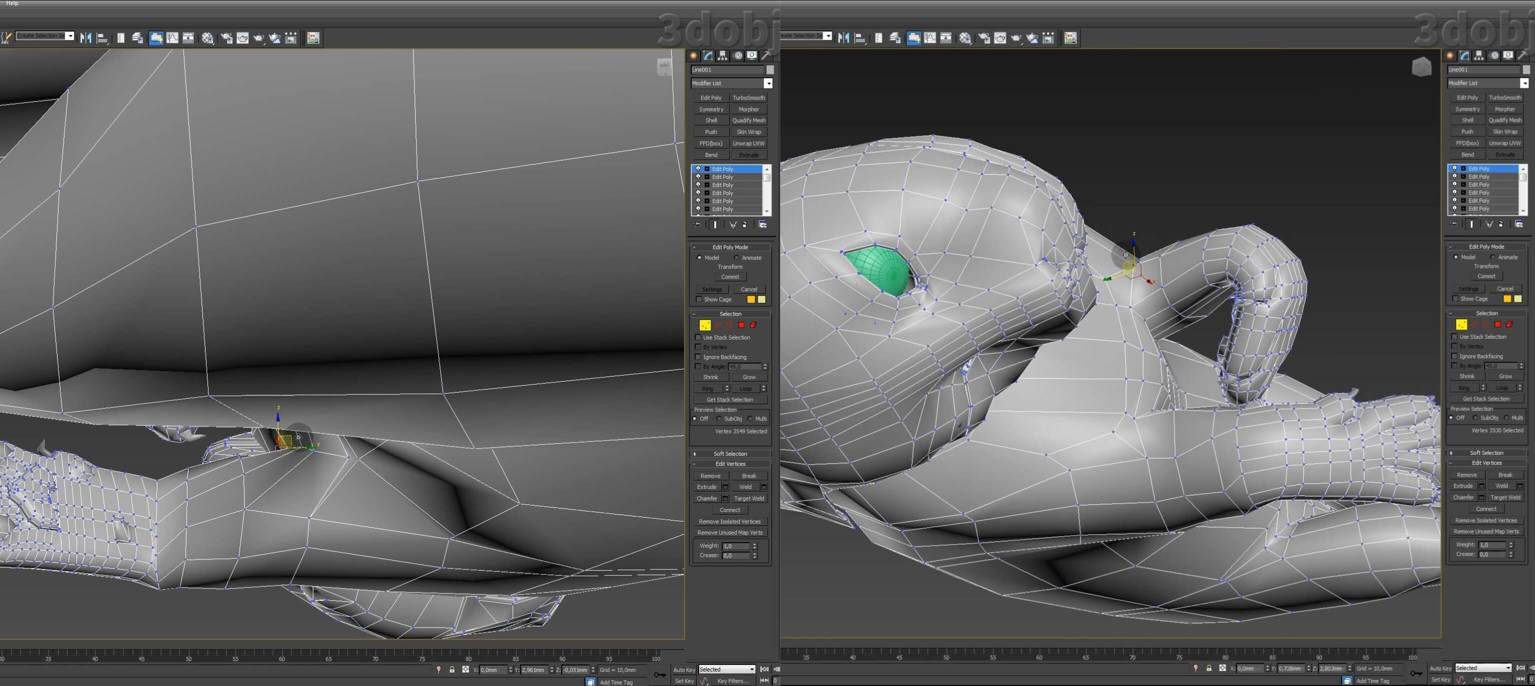 Моделирование кота в 3d max. часть 5_ 26