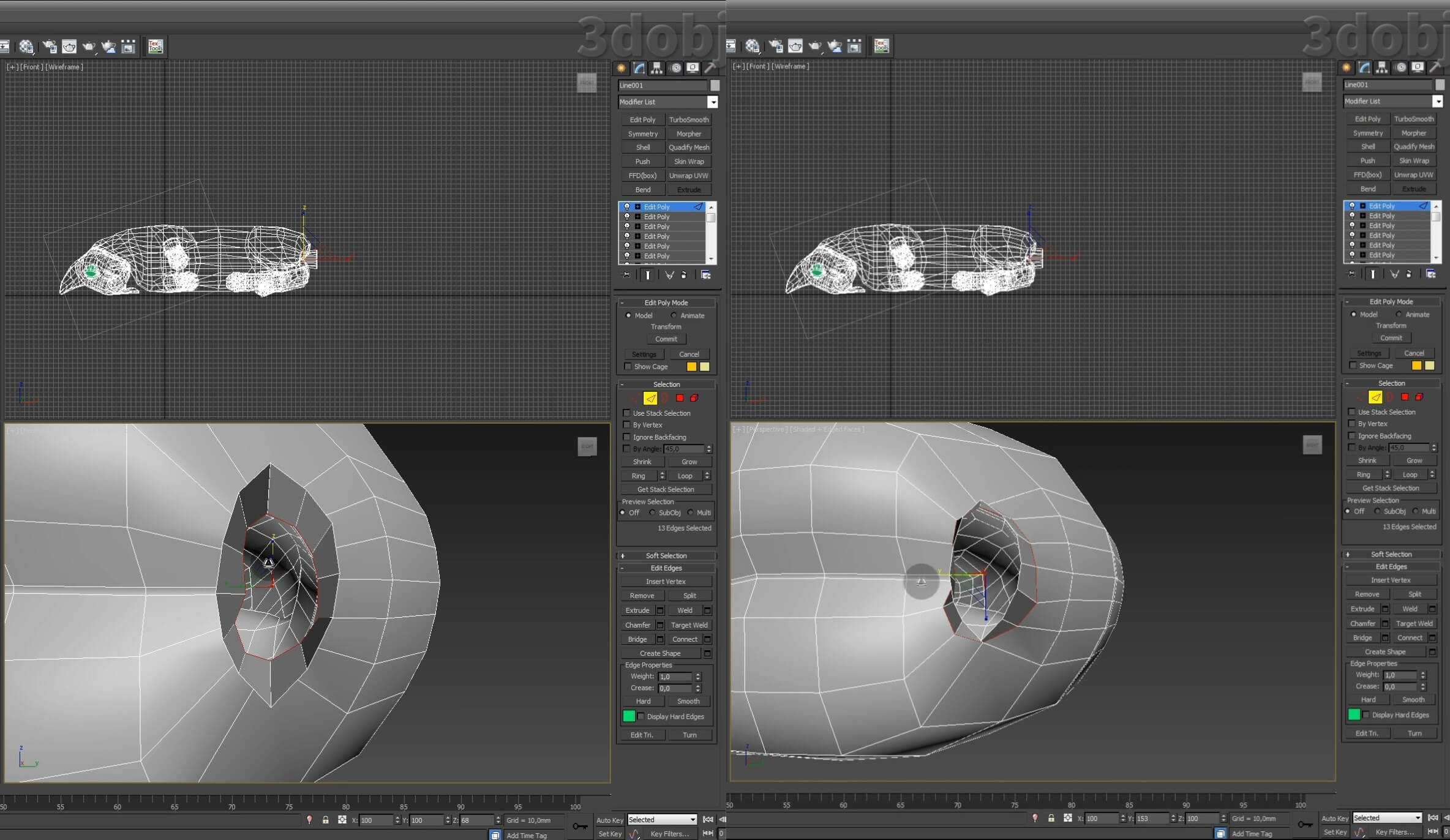 Моделирование кота в 3d max. часть 5_ 28
