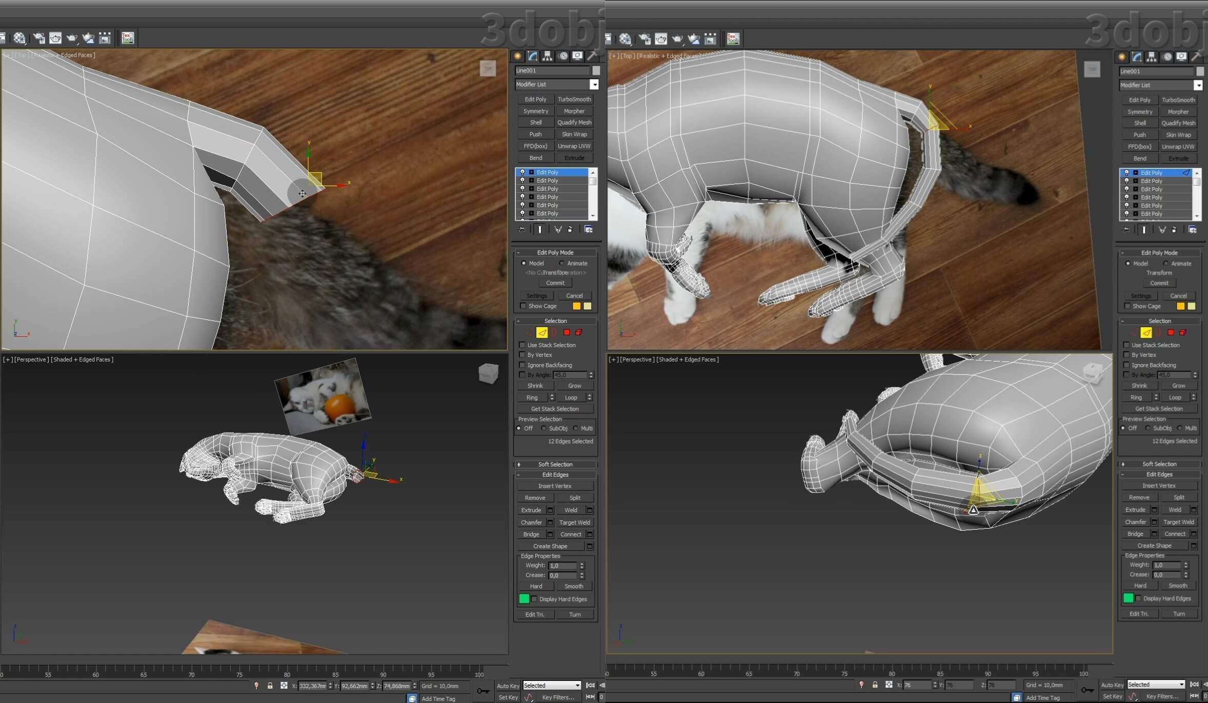 Моделирование кота в 3d max. часть 5_ 29