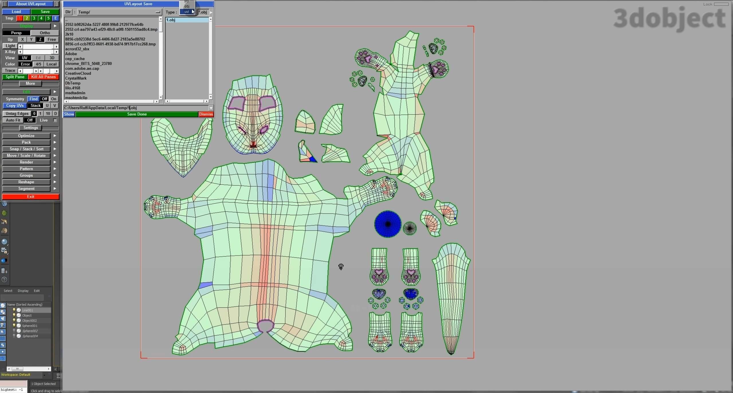 Развертка объекта в UV Layout_22