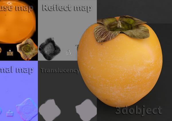 Текстурирование хурмы в photoshop. Наложение текстуры в 3dsMax