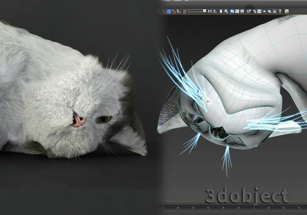 Моделирование усов кота в 3d