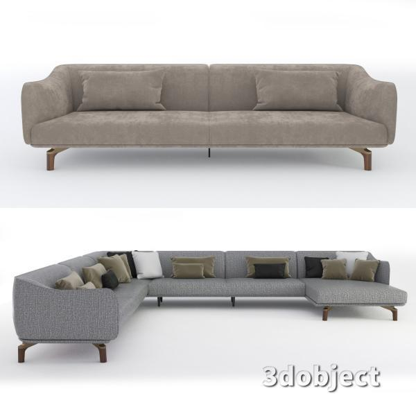3d модель дивана Giorgetti Drive_1