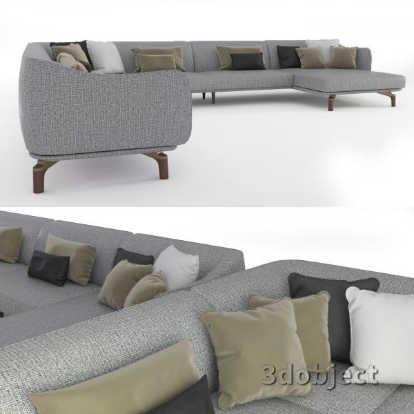 3d модель дивана Giorgetti Drive_3