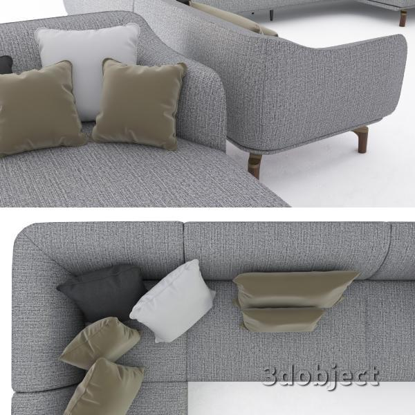 3d модель дивана Giorgetti Drive_4
